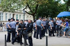 Security - police officers Stock Photo