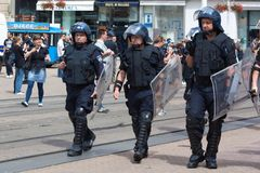 Security - police officers Royalty Free Stock Image
