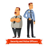 Security and police officers standing Stock Photos
