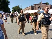 Security at a Popular Street Fair, Rutherford, NJ, USA royalty free stock photos
