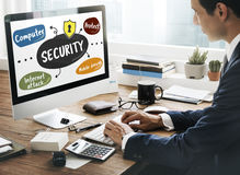 Security Privacy Protect Internet Attack Concept Stock Photos