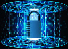 Security, privacy, protection and safety data access concept Royalty Free Stock Photography
