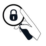 Security or privacy related icons image. Illustration design Stock Photo