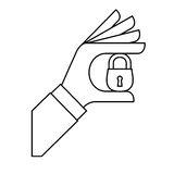Security or privacy related icons image. Illustration design Stock Photography