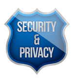 Security and Privacy Shield Stock Photo