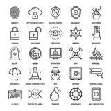 Security and Protection. Abstract vector collection of line security and protection icons. Elements for mobile and web applications Royalty Free Stock Image