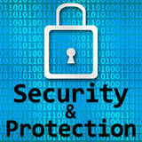 Security And Protection Binary Background Stock Photos