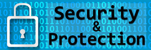 Security And Protection Binary Banner Royalty Free Stock Photography