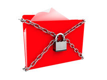Security protection of files, or confidential files concept Royalty Free Stock Images