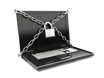 Security protection of files, or confidential files, internet security concept. Stock Photos