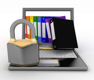 Security protection of files, or confidential folders, internet security concept Royalty Free Stock Photos