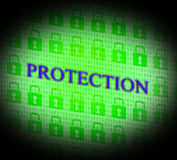 Security Protection Means Forbidden Password And Unauthorized Stock Images