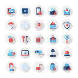 Security, protection modern flat design icons and pictograms. Set of modern vector security flat design icons and pictograms. Collection of information Stock Photo