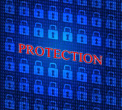 Security Protection Represents Encrypt Secured And Login Royalty Free Stock Image