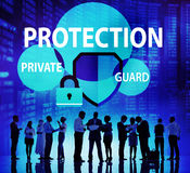 Security Protection Secrecy Privacy Firewall Guard Concept Royalty Free Stock Photography