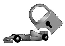 Security racing car Royalty Free Stock Photography
