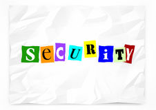 Security Ransom Note Safety Crime Prevention Stock Photo