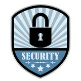 Security retro shield Stock Image