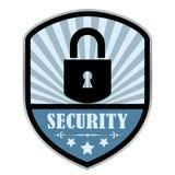Security retro shield Stock Image