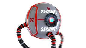 Security robot Royalty Free Stock Images