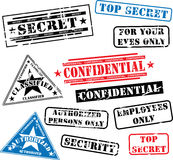 Security rubber stamps Stock Images