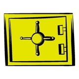 Security safe icon, icon cartoon. Security safe icon in icon in cartoon style isolated vector illustration Royalty Free Stock Image
