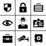 Security and safety icons set Royalty Free Stock Photography