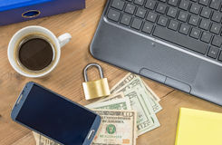 Security and safety online payment concept Stock Photography