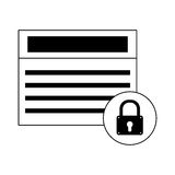 Security or safety related icons image Stock Photos