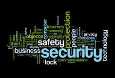 Security safety word cloud Stock Photos
