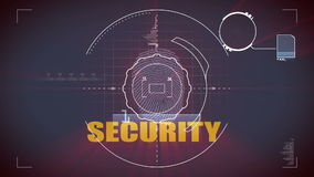 Security scan stock footage
