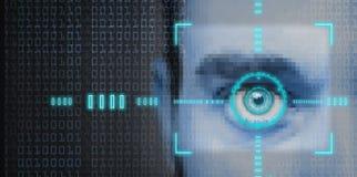 Security scan. Hi tech biometric retina scan  or identity verification Stock Photography