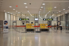 Security screening point of Pearson Airport. Stock Image