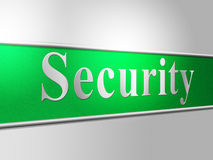 Security Secure Represents Protect Encrypt And Protected Royalty Free Stock Images