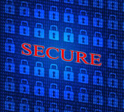 Security Secure Shows Password Encryption And Privacy Stock Photography