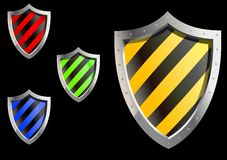 Security sheld icons Royalty Free Stock Photography