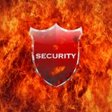 Security shield. Royalty Free Stock Photography