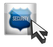 Security shield button illustration design Stock Photography