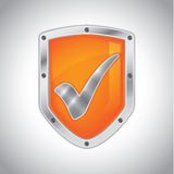 Security shield with check mark Royalty Free Stock Images