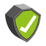 security shield with check symbol isolated icon design Stock Image