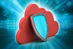 Security shield with cloud Stock Photos
