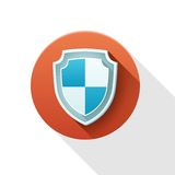 Security shield icon. Royalty Free Stock Photo