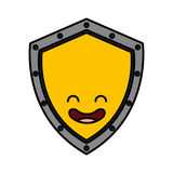 Security shield kawaii character Royalty Free Stock Photos