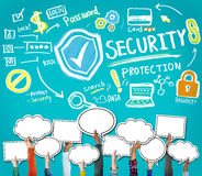 Security Shield Protection Privacy Network Concept Stock Images