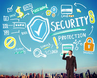 Security Shield Protection Privacy Network Concept Royalty Free Stock Photos