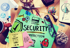 Security Shield Protection Privacy Network Concept Royalty Free Stock Photography