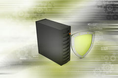 Security shield with sever Stock Image