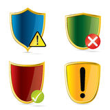 Security shields Stock Image