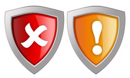 Security shields icon Stock Photo