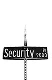 Security on Sign Stock Photo